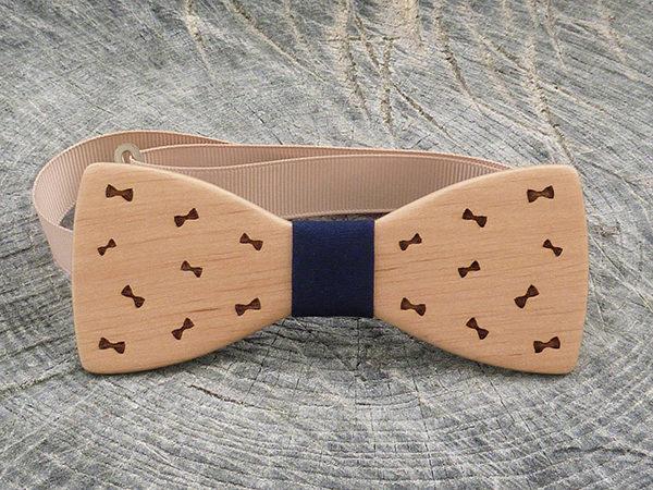 Деревянная галстук бабочка Бантики