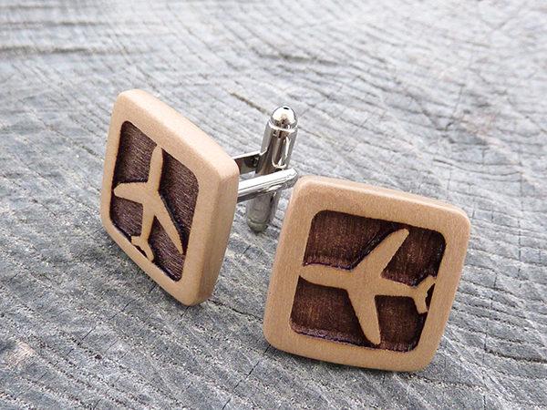 деревянные запонки купить