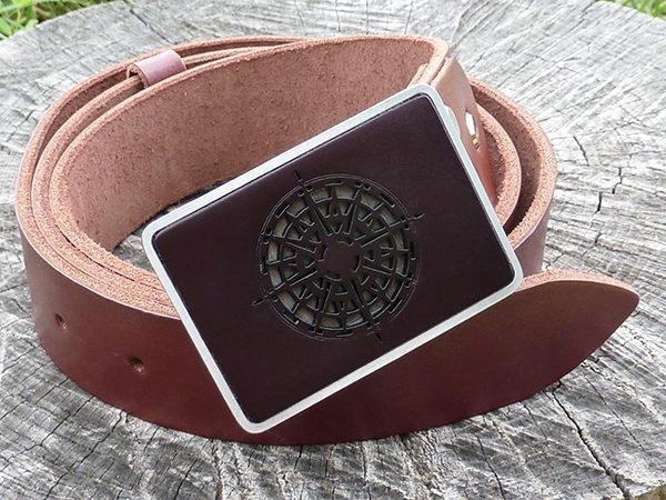 кожаный ремень компас