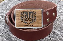 кожаный ремень с гербом