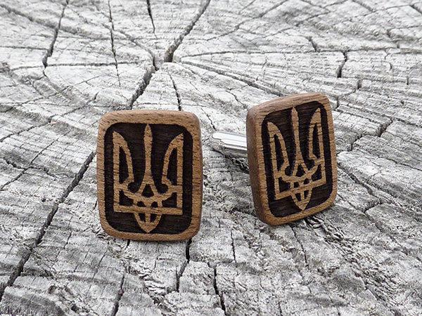 запонки с украинской символикой