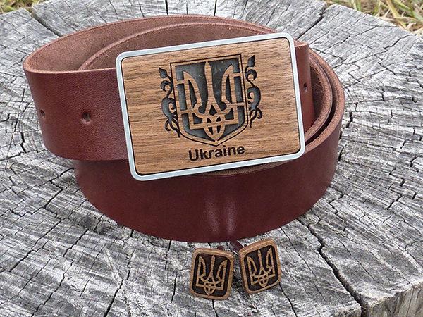 ремень и запонки герб украины