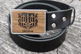 кожаный ремень в украинском стиле