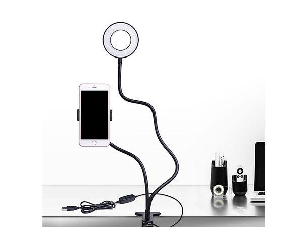держатель телефона с лампой